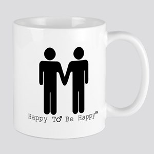 Happy to Be Happy Male Mug