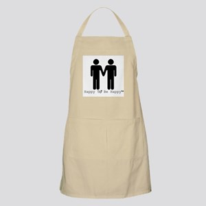 Happy to Be Happy Male Apron