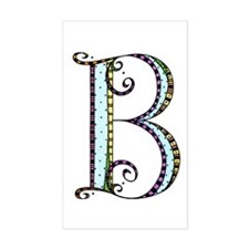 What Fun Monogram - B Sticker