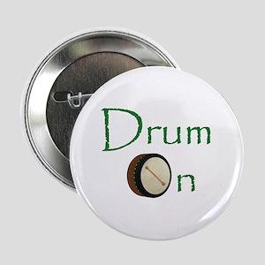 """Bodhran - Drum On 2.25"""" Button"""