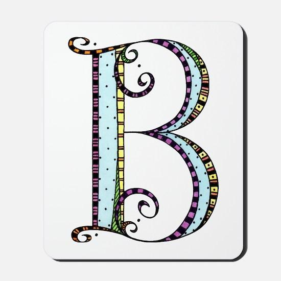 What Fun Monogram - B Mousepad