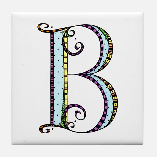 What Fun Monogram - B Tile Coaster