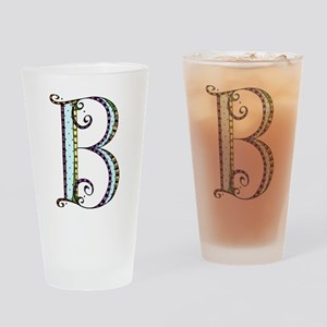 What Fun Monogram - B Drinking Glass