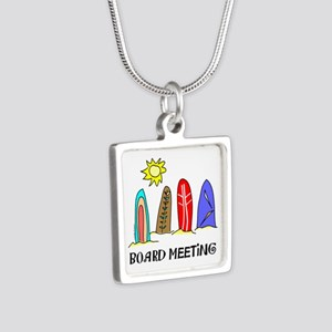 Surf Silver Square Necklace