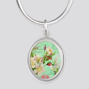 Modern vintage french hummingbird Necklaces