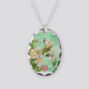 Modern vintage french hummingbird Necklace