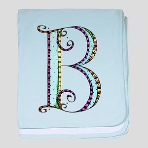 What Fun Monogram - B baby blanket