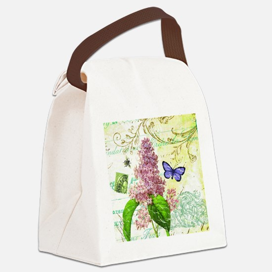 Modern vintage French botanical lilac Canvas Lunch