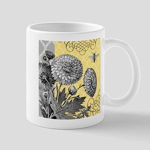 Modern vintage floral collage Mug