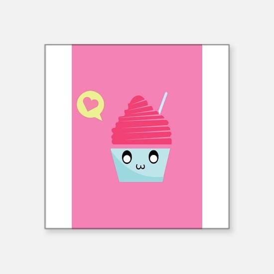"""Cute Cupcake Square Sticker 3"""" x 3"""""""