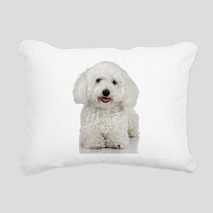 Bichon Frise Rectangular Canvas Pillow