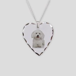 Bichon Frise Necklace Heart Charm