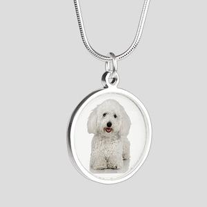 Bichon Frise Silver Round Necklace
