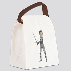 Armored Knight Canvas Lunch Bag