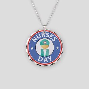 Nurses Day Necklace Circle Charm