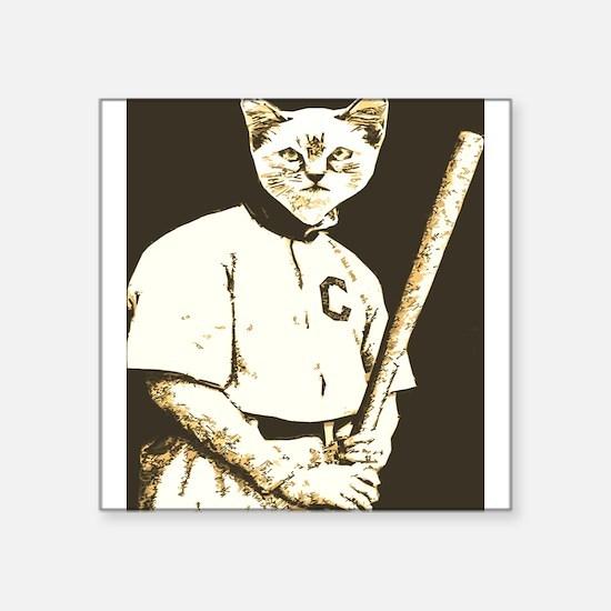 Baseball Cat Sticker
