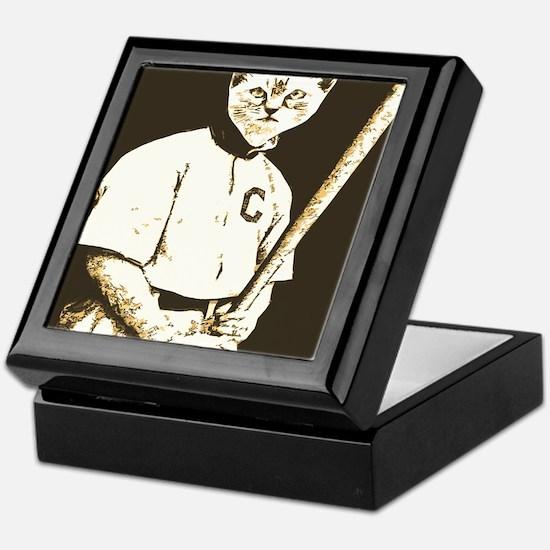 Baseball Cat Keepsake Box