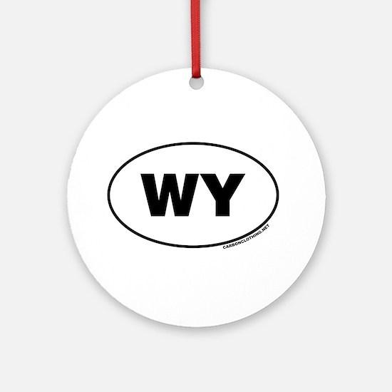 Wyoming, WY Ornament (Round)