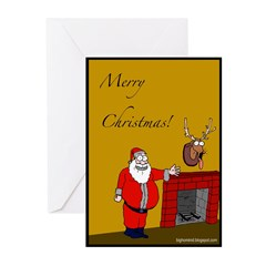 Mounted Rudolph Christmas Cards (6-pk)