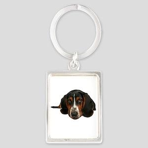 Basset Hound Portrait Keychain