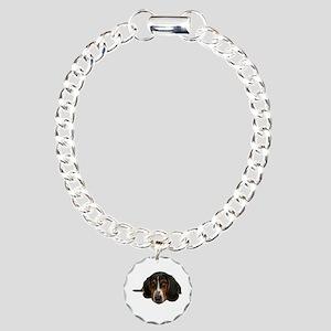 Basset Hound Charm Bracelet, One Charm