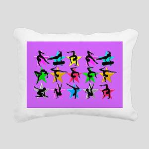 PURPLE GYMNAST Rectangular Canvas Pillow