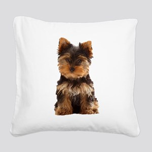 Yorkie Square Canvas Pillow