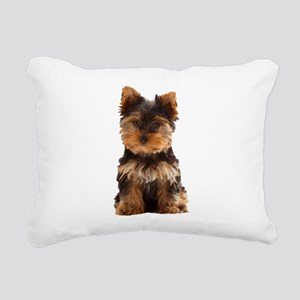 Yorkie Rectangular Canvas Pillow