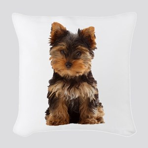 Yorkie Woven Throw Pillow