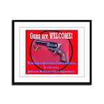 GunsWELCOME Framed Panel Print