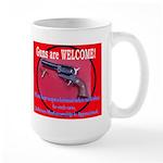 GunsWELCOME Large Mug