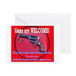 GunsWELCOME Greeting Card