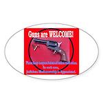 GunsWELCOME Sticker (Oval 10 pk)