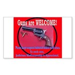 GunsWELCOME Sticker (Rectangle 10 pk)