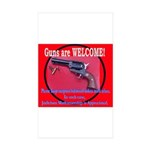 GunsWELCOME Sticker (Rectangle 50 pk)