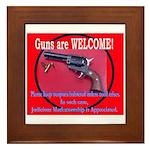 GunsWELCOME Framed Tile