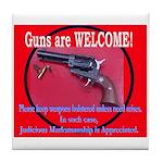 GunsWELCOME Tile Coaster