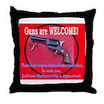 GunsWELCOME Throw Pillow