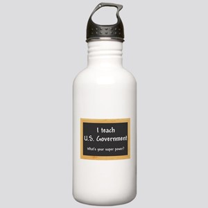 I teach US Government Water Bottle