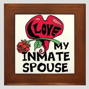 I love My Inmate Spouse Framed Tile