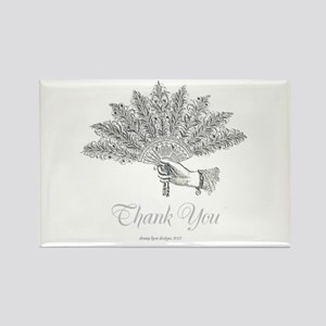 Victorian Fan Thank You Rectangle Magnet