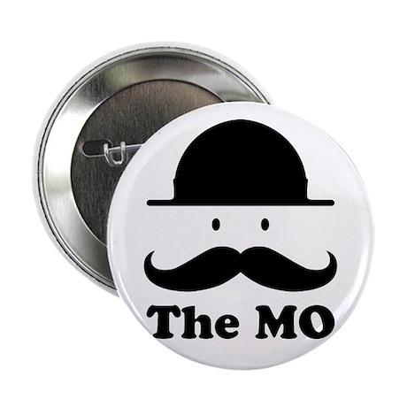 """Moustache graphic print 2.25"""" Button (10 pack)"""