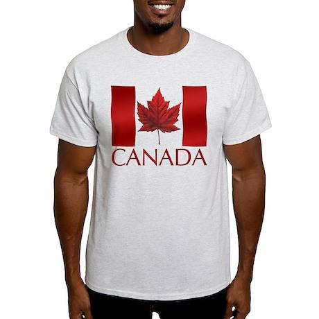 Canada Flag T-shirt Maple Leaf Art Souvenir