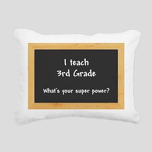 I teach 3rd grade Rectangular Canvas Pillow