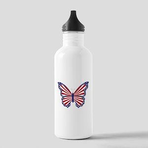 Patriotic Butterfly Water Bottle