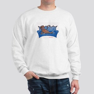 Blue Sofa Sock Monkey Sweatshirt