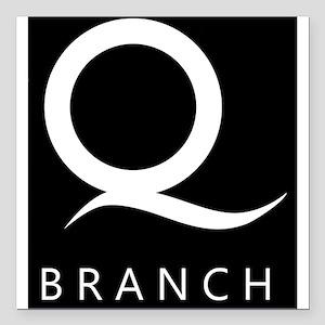 "Q Branch Square Car Magnet 3"" x 3"""