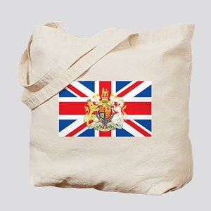 British Flag with Royal Crest Tote Bag