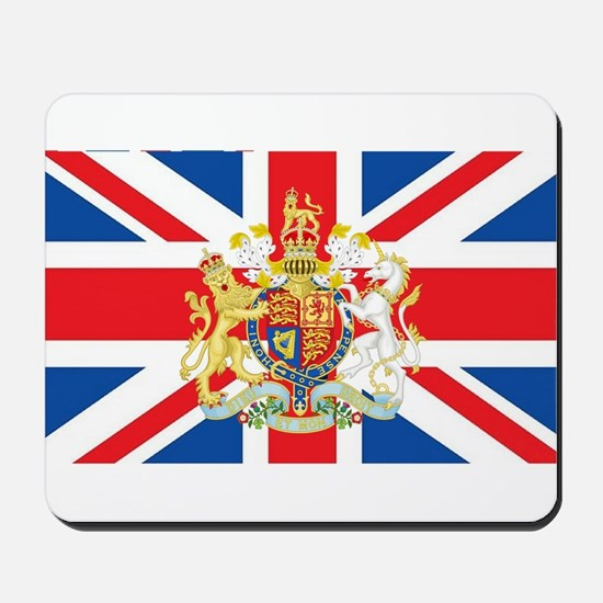 British Flag with Royal Crest Mousepad