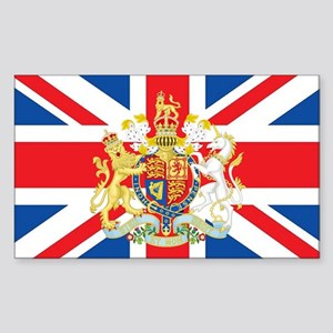 British Flag with Royal Crest Sticker